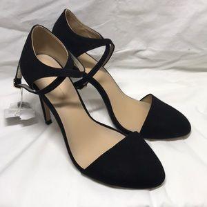 ZARA basic high heeled sandals Black